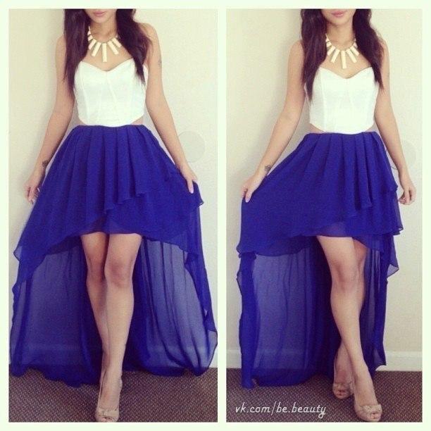 С чем носит яркие длинные юбки